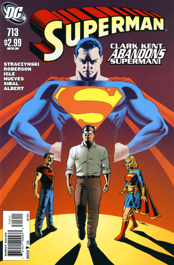 The cover of Superman #713